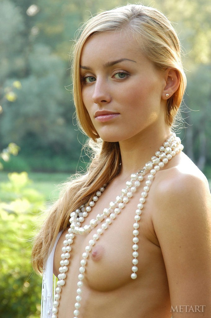 Fit girl and her beautiful necklace