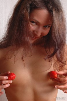 Strawberry girl in her spectacular red panties