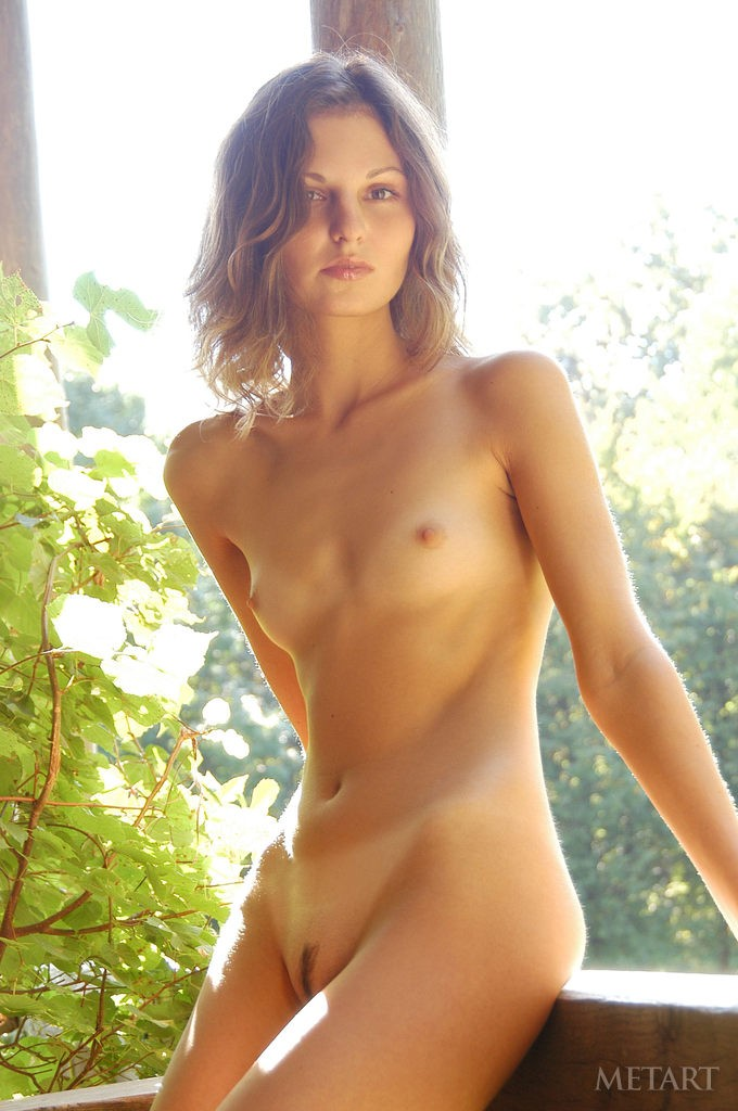 brunette girl posing naked outdoor - metart - simplenu