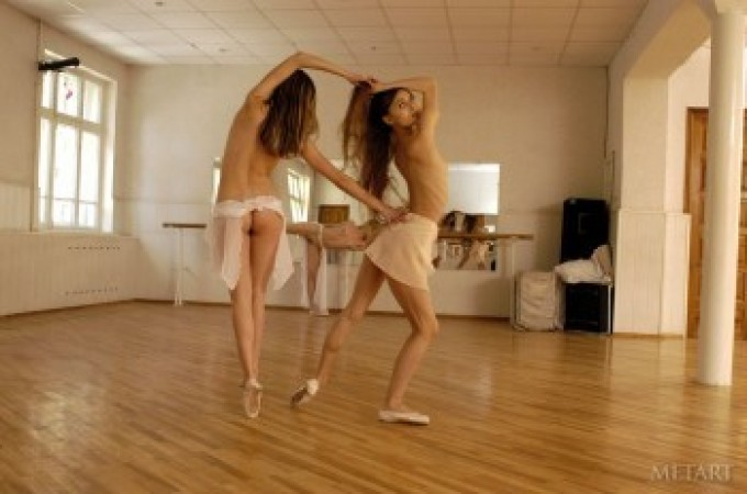 Naked ladies take part in a beautiful dance