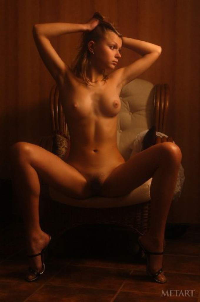 In bedroom with mesmerising blonde girl