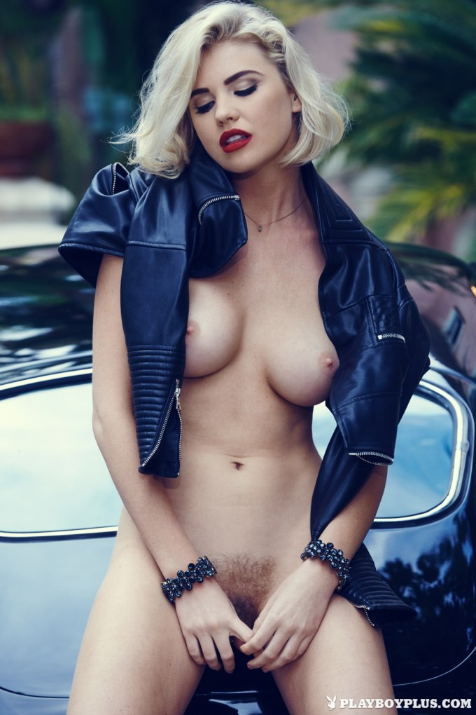 Seductive babe and her hot car