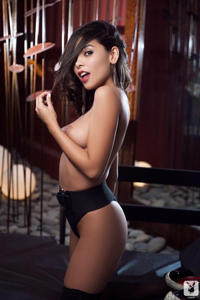 Hot dark bunny is in her sexiest lingerie